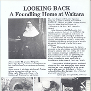 """Looking Back: A foundling home at Waitara"""