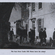 The boys from Castle Hill House leave for school