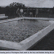 Swimming pool at Werrington Park made by the boys and finished during the year