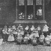 Children at the Infants' Home in the late 1890s