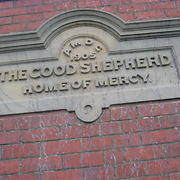 Stone Engraving - Home of Mercy and Good Shepherd Home, Midwood Street