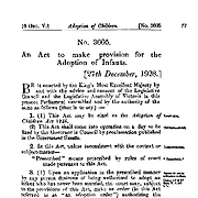 The Adoption of Children Act 1928