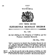 The Adoption of Children Act 1964