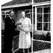 The Premier, the Hon. H.E. Bolte, discusses 'Moonyah' Family Group Home at Coburg with Cottage Mother, Catherine Kurth