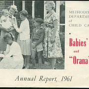 "Methodist Department of Child Care Babies' Home and ""Orana"", Annual Report, 1961"