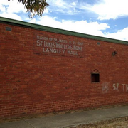 Sign on the rear wall at Langley Hall Bed & Breakfast, Bendigo (former site of St Luke's Toddlers' Home]