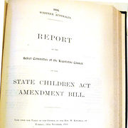 Report of the Select Committee of the Legislative Council on the State Children Act Amendment Bill