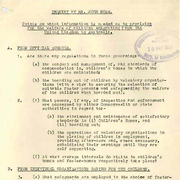 Enquiry by Mr. John Moss. Points on which information is needed as to provision for the welfare of children emigrating from the United Kingdom to Australia