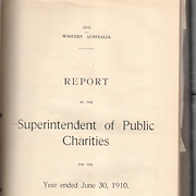 Report by the Superintendent of Public Charities, 1910