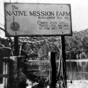 Roelands Native Mission Farm, sign
