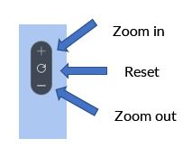 Zoom controls on map